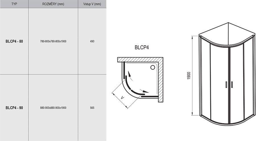 Dušo kabina Blix BLCP4