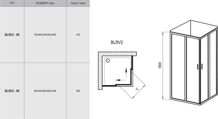 Dušo kabina Blix BLRV2